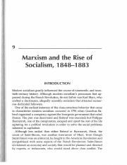 Chap. 9 - Marxism and the rise of socialism, 1848-1883 (events that changed the world)