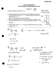 AP Calculus Exam Material Example