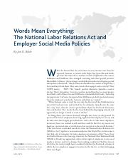 The National Labor Relations Act and Employer Social Media Policies.pdf