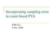 Incorporating sampling error in count-based PVA