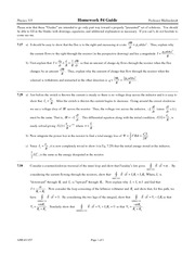 Homework 4 Solution on Electricand Magnetic Phenomena