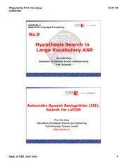 CSE 6328 Hypothesis Search