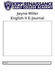 English II Quarter 2 E-Journal  JWYNE MILLER.docx