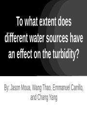 To what extent does different water sources have an effect on the turbidity-.pptx