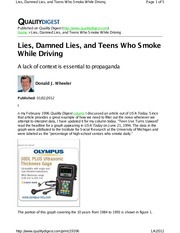 SPC Example - Teens Who Smoke While Driving - Wheeler
