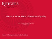 Work, Race, Ethnicity and Equality Slides