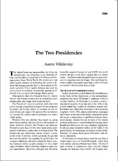 Wildavsky Two Presidencies-3