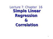 Lecture 7 Chapter 16 part 1