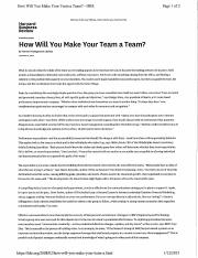 How will you make your team a team.pdf