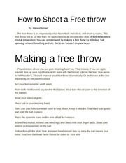 How to Shoot a Free