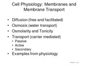 MEMBRANES+AND+MEMBRANE+TRANSPORT