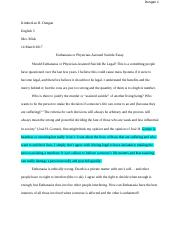 Euthanasia or Physician-Assisted Suicide essay.docx