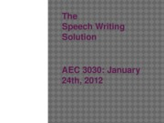 Jan24thLecuture-SpeechWritingSolution -online