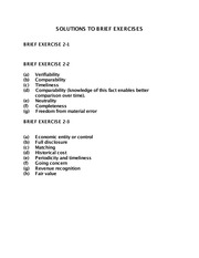 Brief Exercises- Chapter 2