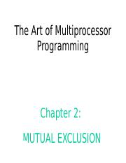 Art of Multiprocessor Programming--ch2