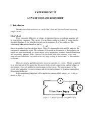 Experiment 25 Laws of Ohm and Kirchhoff.pdf