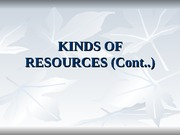 Kind of Resources