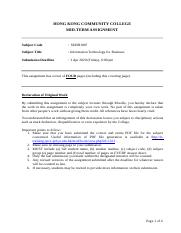 SEHH1007 Mid-term Assignment - Question Paper-已轉檔.docx