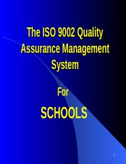 ISO for Quality Management