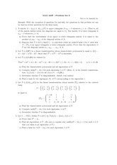 Problem set 8 and solutions
