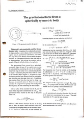 Gravitational Force on body Class Notes