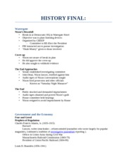 History Test 5 Study Guide