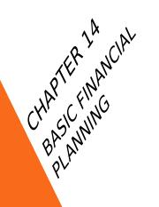 Chapter 14 - Basic Financial Planning.ppt