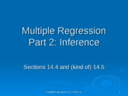 multiple regression 2 ppt