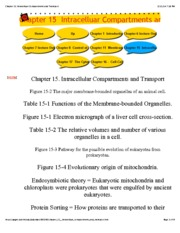 Chapter 15 Intracelluar Compartments and Transport