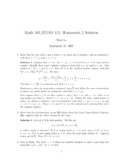 Math 301 Problem Set 2 Solutions