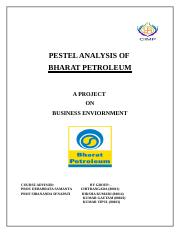 PESTEL ANALYSIS OF BPCL (1)