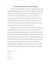 Term Paper- The Great Famine