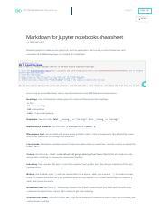 Markdown for Jupyter notebooks cheatsheet pdf - LogIn SignUp MENU