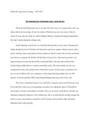 GEY4647 Ethical and legal Issues in Aging, Henrietta Lacks Book Review Essay