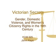 Victorian Secrets Gender Domestic Violence and Women's Citizenry Rights  WIW (1)