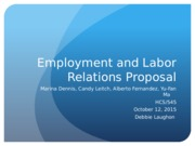Week 4_Employment and Labor Relations