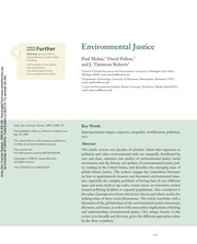 Reading - Mohai Pellow Environmental Justice