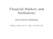 Lecture 20 - Investment Banking