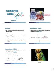 Chapter 17 (Carboxylic Acids) 6  Slides per Page