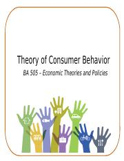 Chapter 5 - Theory of Consumer Behavior 1.pptx