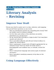 1.6.3 - Instruction - Literary Analysis - Revising.docx