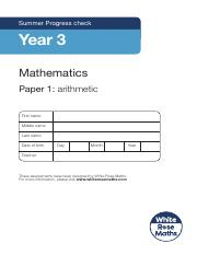 Year 3 - Arithmetic - Summer 2019.pdf