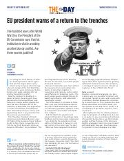 1892 EU president warns of a return to the trenches