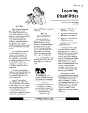 H19 - Learning Disabilities