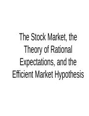 ECON3410 - W3 Stock Market and Rational Expectations.ppt