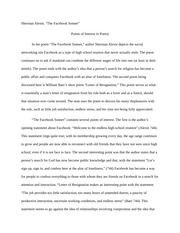 Points of Interest in Poetry Journal