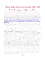 13 Notes(OLD) - Revolutions and Nationalism, 1500-1900
