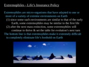 Extremophiles and Life on Mars (PowerPoint)