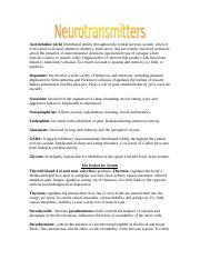 Neurotransmitters and Hormones.doc