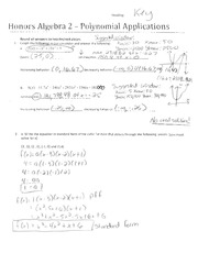 Polynomial Applications WS KEY